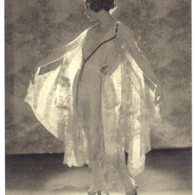Model Helen Lyons Wearing a Dress and Matching Cape by Boue Soeurs, in Vogue, April 1922 by Baron de Meyer