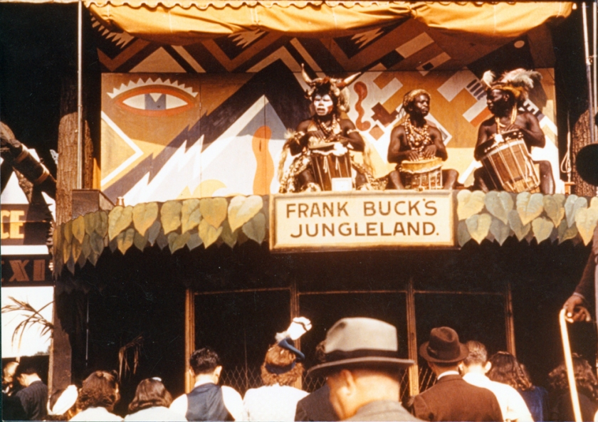 African Americans perform in Frank Buck's Jungleland, a popular attraction at the 1939 World's Fair. Paul Gillespie Collection of New York World's Fair Materials, New-York Historical Society.